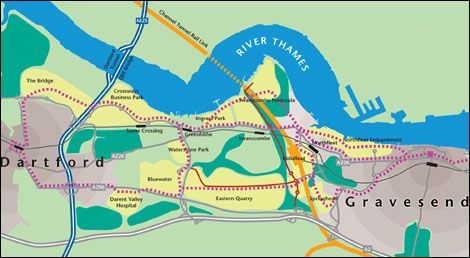 Kent Thameside map