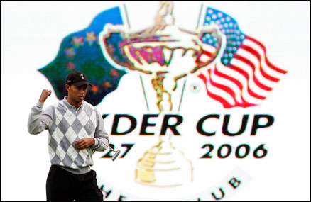 Tiger Woods in Ryder Cup action
