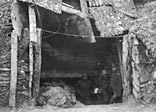 Entrance to a German dug-out, the Ancre