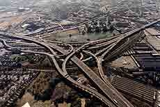 Aerial shot of Spaghetti Junction.