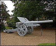 One of the German guns in the garden