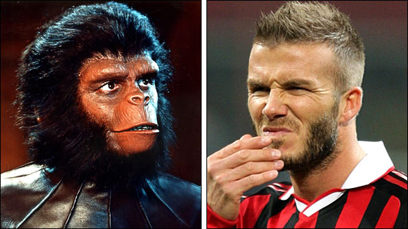 Galen from Planet of the Apes and David Beckham