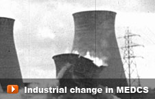 Watch 'Industrial change in MEDCs' video