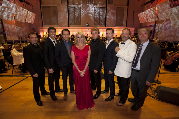 Richard Wigley (far right) with Tamzin Outhwaite and the stars of BBC Radio 2's Friday Night is Music Night, one of the highlights of the BBC Philharmonic Presents Festival