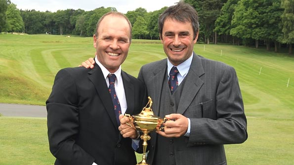 Thomas Levet and Jean Van de Velde hold the Ryder Cup