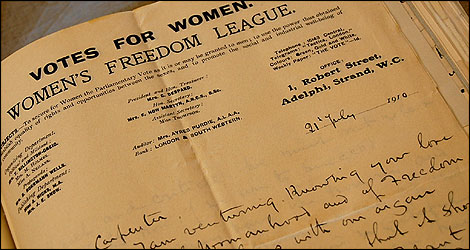 Women's Suffrage letter
