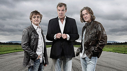 Top Gear presenters Richard Hammond, Jeremy Clarkson and James May (image: Todd Antony/BBC)