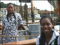 Saphra Ross and Nadia Waithe sailed on Amistad