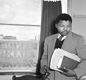 A young Nelson Mandela in the office of the law firm he founded with fellow ANC activist Oliver Tambo.