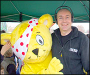 Richard with Pudsey during Children in Need 2007