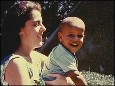 Ann Dunham with her young son, Barack Obama