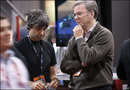 Google co-founder Larry Page and CEO Eric Schmidt