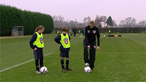 Football skills - flicking the ball