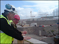 Mark Mardell visiting Flamanville site