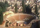 Arial photograph of an arena at Pompeii