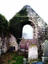 The ruins of the old church at Ballywillan near Portrush, Co.Antrim
