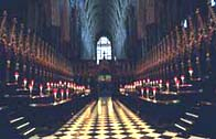 Photograph showing inside Westminster Abbey