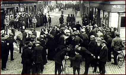 Image of the scene at Church Street after Kevin Barry's arrest