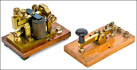 Telegraph Equipment. Courtesy Guernsey Museums