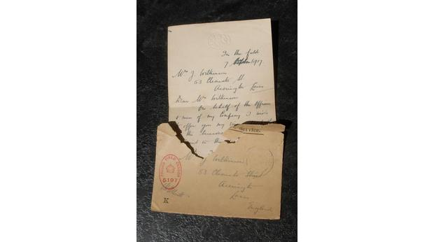 Bbc  A History Of The World  Object  Letter Of Condolence From