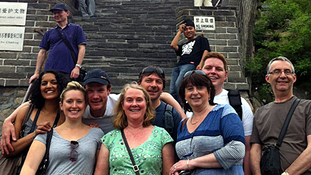 Some of National Orchestra of Wales at the Great Wall of China