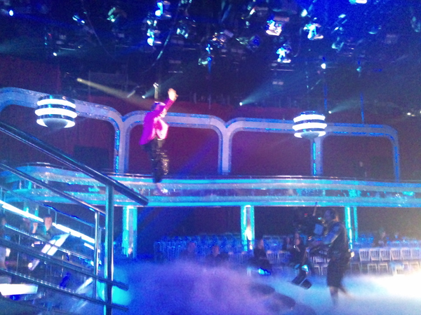 Ann Widdecombe Flying in Strictly Come Dancing Dress Rehearsals
