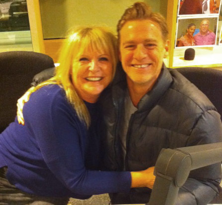 Sally Boazman and Bryan Adams