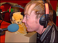 Sooty and Richard Caddell at BBC Leicester