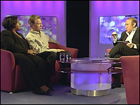 Diane Abbott, Michael Portillo and Andrew Neil