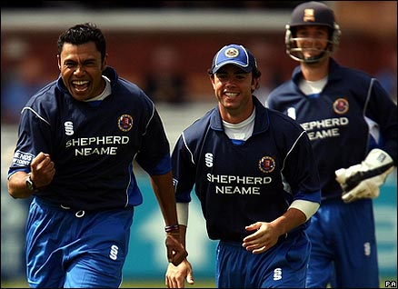 Danish Kaneria was in the wickets for Essex