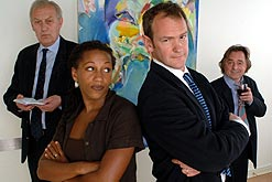GEOFFREY WHITEHEAD as CEO Marcus Rigsby, CLAIRE PERKINS as Hayley , ALEXANDER ARMSTRONG as John Weak and RON COOK as Bill Peters