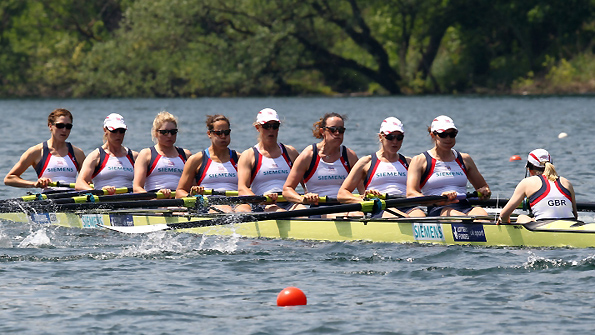 GB women's eight in Lucerne