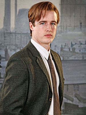 James Roache as a younger version of his real- life father William Roache in The Road To Coronation Street