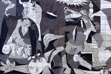 Detail from Pablo Picasso's painting Guernica
