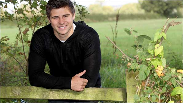 Ben Youngs relaxes in the countryside