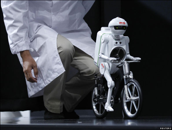 Bicycle-riding robot