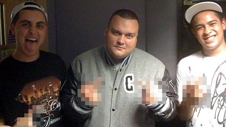 Astroid Boys with Charlie Sloth (centre)