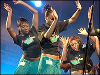 Dancers with the Nechells Gospel Choir
