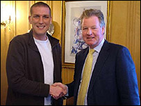 Jason de Vos and ITFC chairman David Sheepshanks
