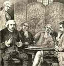 Image of Samuel Johnson holding court