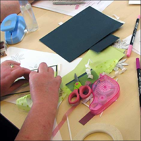bbc leicester in pictures hand making cards