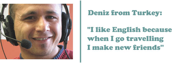 Deniz from Turkey - 'I like English because when I go travelling I make new friends'