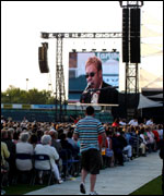 Elton John on the big screen in concert