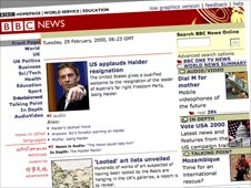 BBC News website in 2000