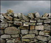 Drystone wall in the Yorkshire Dales