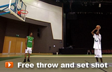 Player taking a free throw