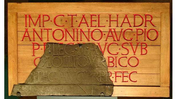 Roman inscribed stone from Scotland