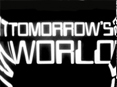 The Tomorrow's World logo - the text is distorted at the edges by a mirror.