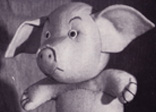 Chubby pink pig gift idea of 1944