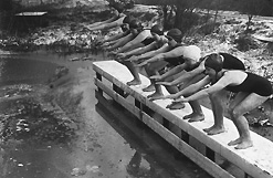 Frozen Swimmers at Hampstead Ponds
